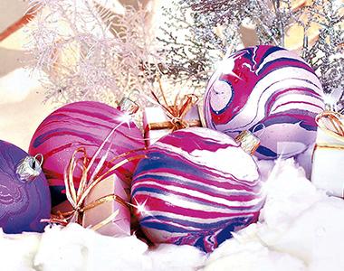 Boule en polystyrène à Noël
