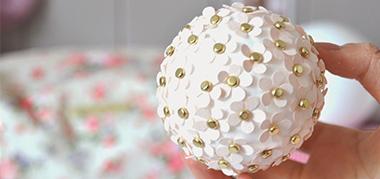 Boule polystyrène : Décoration de mariage