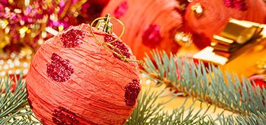 Boule polystyrène : Décoration de Noël